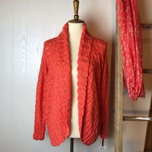 Ruby Rd Knitted Open-Front Cardigan